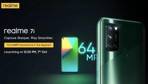 ভারতে 7 লঞ্চ করবে অক্টোবর  64MP ক্যামেরাওয়ালা সস্তা Realme 7i, নিশ্চিতভাবে চ্যালেঞ্জের মুখে Xiaomi